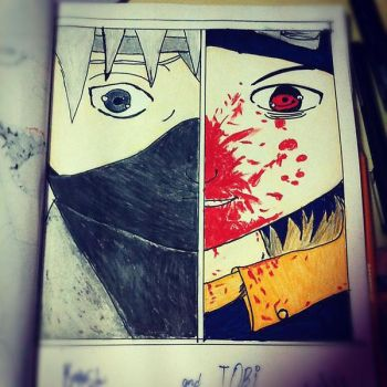 Kakashi and Obito by BegginerSketch