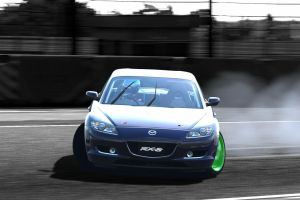Hard Core RX-8 Drift ....with wipers on by Drift-Queen7
