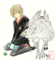 Moony and the HippoGriff by Kitsune--Rin