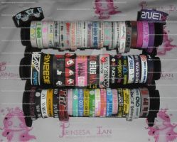 KPOP BALLER BANDS SUPPOR BRACELETS by prinsesaian