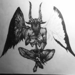 Incubus (Silent Hill) Stippling WIP 10 by razorthecurse