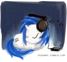 MLP - Music Listening Pony by erysz
