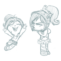 More Vanellope doodles by Choscaa