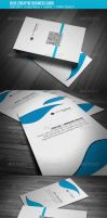 Blue Creative Business card by calwincalwin