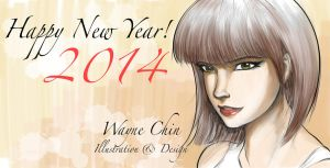 Happy New Year 2014 by wayner8088