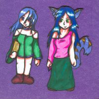 Blue and Suriya cut-outs by Ferret-X