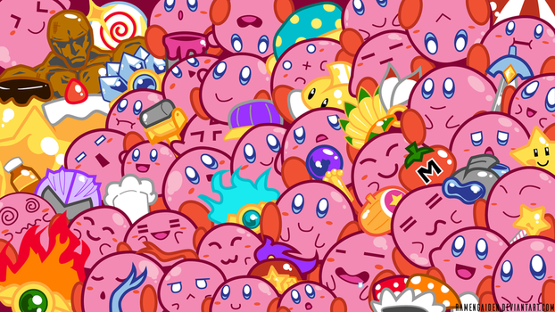 Mass Kirby Wallpaper by RamenGaiden