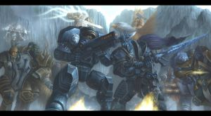 Heroes of the storm : Raynor vs Arthas by concubot
