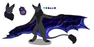 Female Floofy Bat Adopt 1 - Cosmic - SOLD by ShadowInkAdopts