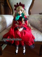 Shinku BJD - A lady in red by AngyValentine