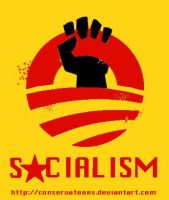 Obama's Pro Socialist logo by Conservatoons