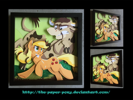 Bronycon 14 Charity Auction Applejack Shadowbox by The-Paper-Pony