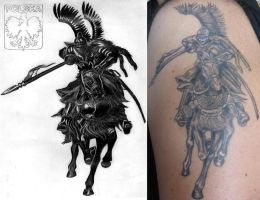 Polish Winged Hussar + tattoo by EwaBlackWidowVsHare