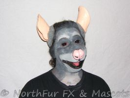 Large Rat Muzzle with Ears by sjgarg