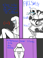 Sans X Frisk:The dividing door by ReneeIsdetermined