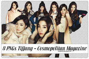 Pack 8 PNGs Tiffany@Cosmopolitan Magazine by SickyJinny