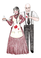 Sweeney Todd and Mrs. Lovett by kirstenlouise