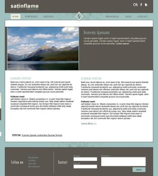 Mountainscape personal web design by jeanine