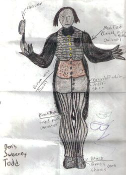 Sweeney Todd Costume Sketch by boonedaba1991