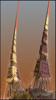 Tribal towers 2~ by Davenwolf
