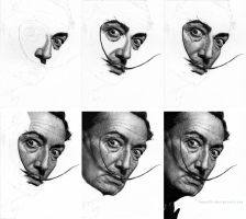 Salvador Dali-step by step by Dodos24