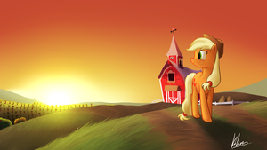 Applejack's Sunset by Khan-the-cake-lover