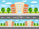 Building Game Vector Background by petyaivanova