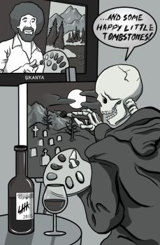 Death discovers his creative side! by Captroop