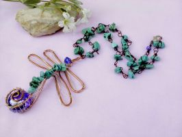 Dragonfly necklace by Mirtus63
