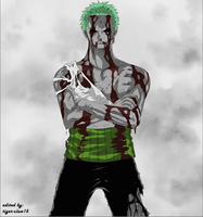 Zoro color splash by mayaxluffy