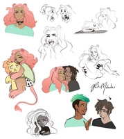 More Cute Doodles by Cybambie