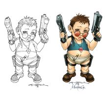 Lara_Baby_pencils by tatosaurio