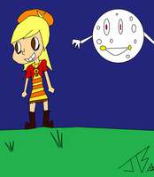 Ahsley and the Moon by themanfromhyrule