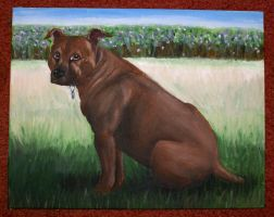 Dog Painting by PsychicPsycho