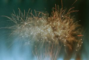 Firework with a ligh leak. by yagahara