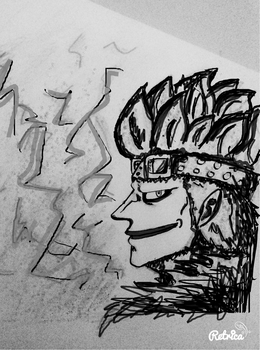 Eustass kidd black and white by Apollus02