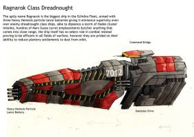 Ragnarok Class Dreadnought by Ascendent-of-Heresy