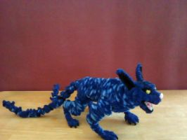 Two-tailed Cat demon by engineerx