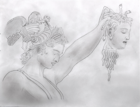 Perseus with Medusa's Head by Draconian1305