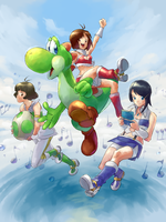 Yoshi's 3D Island of Music by juneonnaise