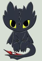 HTTYD Toothless Chibi sitting by hatirrisworldproject