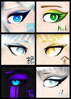 Eye Make-Up Studies by swiftyuki
