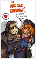 Chucky vs Jason by Boredman