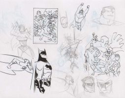 JLA Cover Layouts by dfridolfs