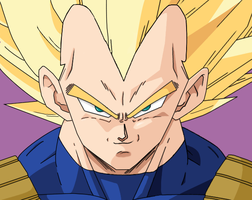 SSJ Vegeta (Colored) by DinaValentine