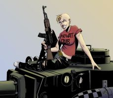 Tankgirl Final Color by TomikoArt
