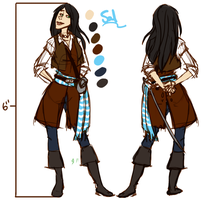 Sal Model Sheet by NatAsplund