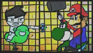 John Egbert vs Mario by xXmariisa23Xx