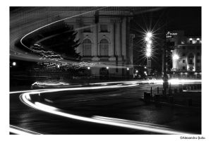 Black and white city lights by RavenNightWish
