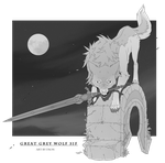 Great grey wolf Sif by NPC-Dion